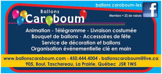 Partenaire WOOF Design - Ballons Caroboum